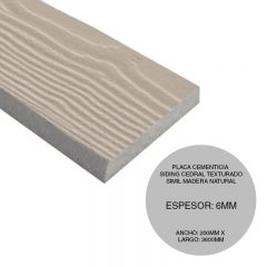 PLACA SIDING CEDAR 3600X200X6MM