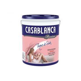 Pintura latex interior lavable premium blanco satinado balde x 4l