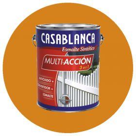 Esmalte sintetico multiaccion 3 en 1 antioxido convertidor y esmalte amarillo mediano brillante lata x 1l