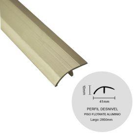 PERFIL DESNIVEL PISO FLOTANTE ALUMINIO CHAMPAGNE 10X41X2850MM
