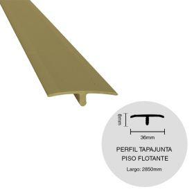 PERFIL TAPAJUNTA PISO FLOTANTE ALUMINIO CHAMPAGNE 8X36X2850MM