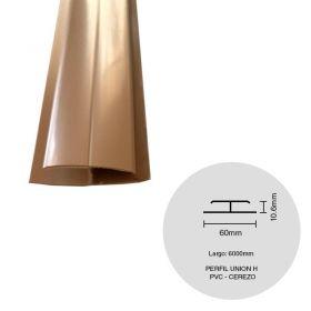 Perfil cielorraso ecoPVC H union cerezo 6000mm
