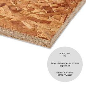 PLACA OSB HOME ESTRUCTURAL 9.5X1220X2400MM