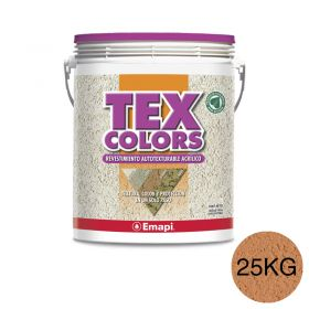 Revestimiento acrilico texturable Texcolors Athenas terracota balde x 25kg