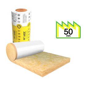 Aislante lana de vidrio Isover Fieltro Tensado Polipropileno Blanco hidrorepelente 50mm x 1200mm x 16m x rollo 19.2m²