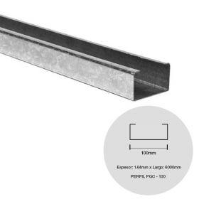 Perfil steel framing PGC 100 galvanizado 1.64mm x 100mm x 6000mm